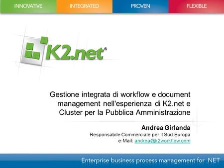Gestione integrata di workflow e document