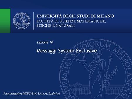 Messaggi System Exclusive
