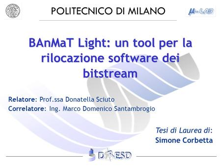 BAnMaT Light: un tool per la rilocazione software dei bitstream
