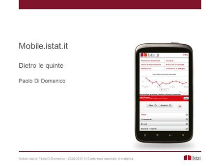 Mobile.istat.it Dietro le quinte Paolo Di Domenico