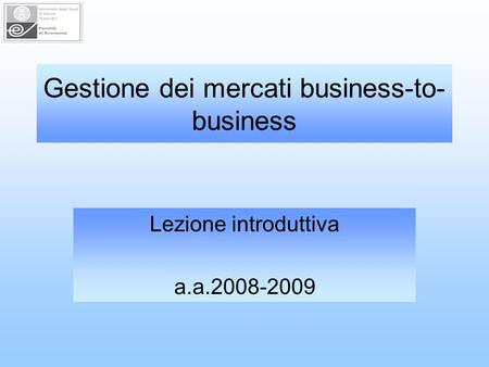 Gestione dei mercati business-to-business