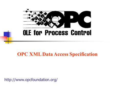 OPC XML Data Access Specification