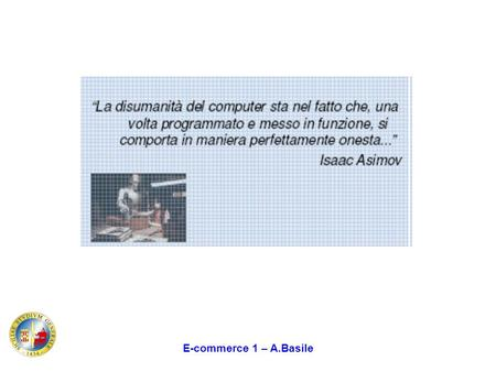 E-commerce 1 – A.Basile.