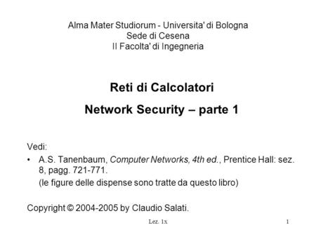 Network Security – parte 1