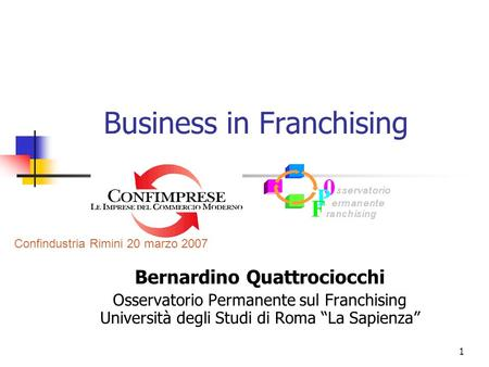Business in Franchising