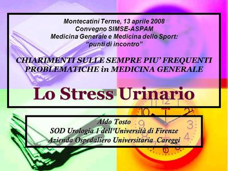 SOD Urologia 1 dell'Università di Firenze