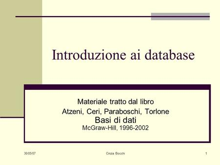 Introduzione ai database