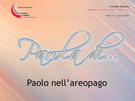 Paolo nell'areopago.