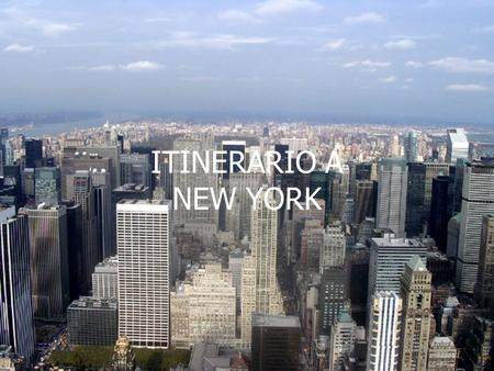 ITINERARIO A NEW YORK.