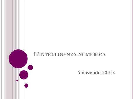 L'intelligenza numerica