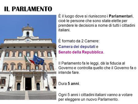 Il parlamento italiano ppt video online scaricare for Parlamento on line