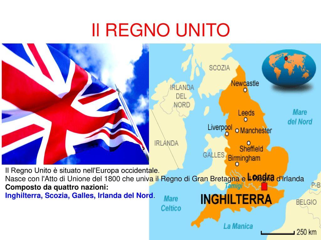 Cartina Regno Unito E Irlanda Del Nord.Il Regno Unito Il Regno Unito E Situato Nell Europa Occidentale Ppt Scaricare