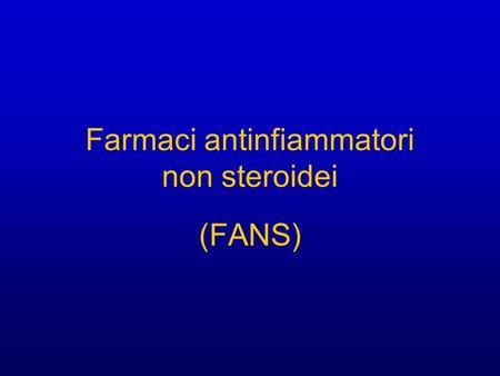 Farmaci antinfiammatori non steroidei pdf