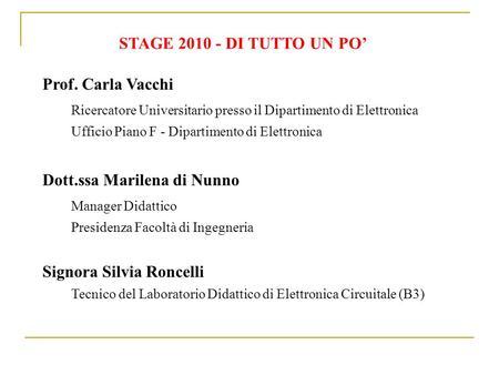 Calendario Appelli Unina.Prof Ing Almerinda Di Benedetto Ppt Scaricare