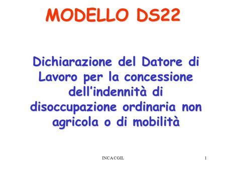SCARICA MODELLO DS21 DISOCCUPAZIONE ORDINARIA
