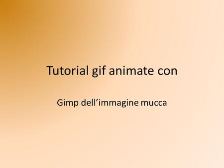 Tutorial gif animate con
