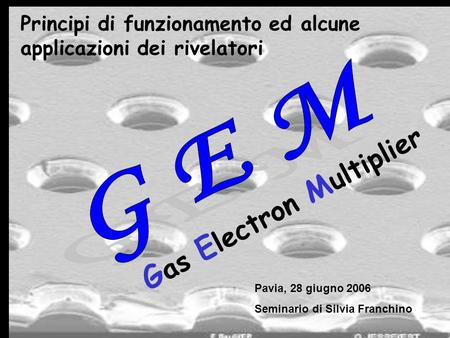 Gas Electron Multiplier