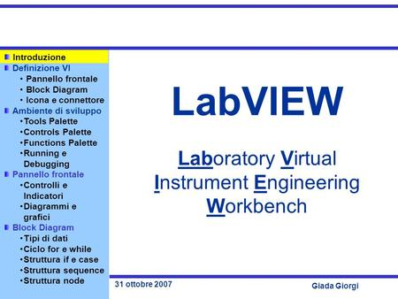 LabVIEW Laboratory Virtual Instrument Engineering Workbench