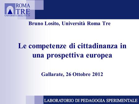 Bruno Losito, Università Roma Tre