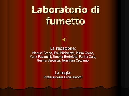 Laboratorio di fumetto
