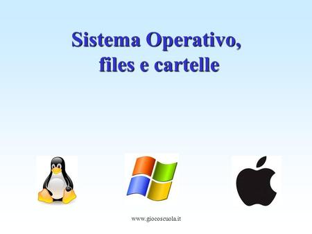 Www.giocoscuola.it Sistema Operativo, files e cartelle.