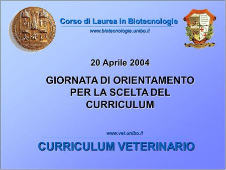 CURRICULUM VETERINARIO