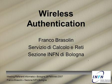 Wireless Authentication