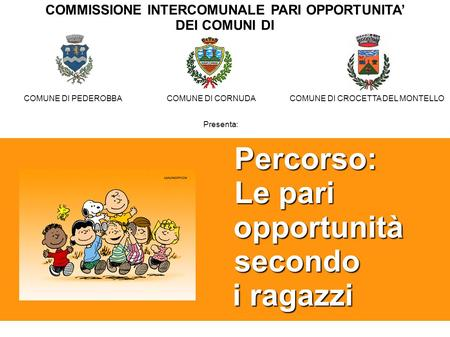 COMMISSIONE INTERCOMUNALE PARI OPPORTUNITA' DEI COMUNI DI