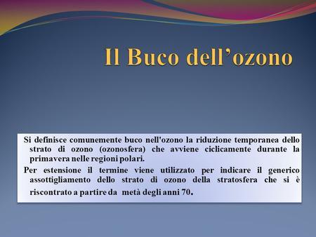 Aria Il Buco Nellozono Ppt Video Online Scaricare