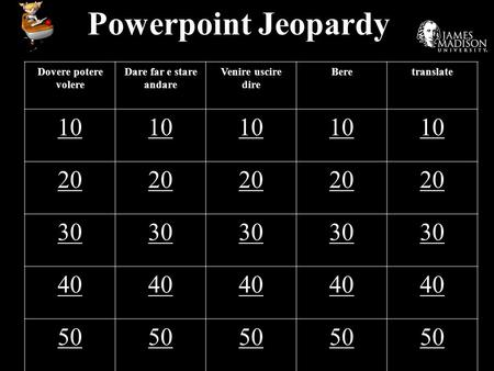 Powerpoint Jeopardy Dovere potere volere