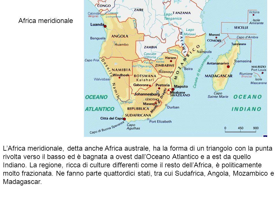 Cartina Dell Africa Meridionale.Africa Meridionale L Africa Meridionale Detta Anche Africa Australe Ha La Forma Di Un Triangolo Con La Punta Rivolta Verso Il Basso Ed E Bagnata A Ovest Ppt Scaricare