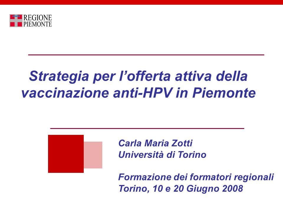 vaccino papilloma virus regione piemonte)