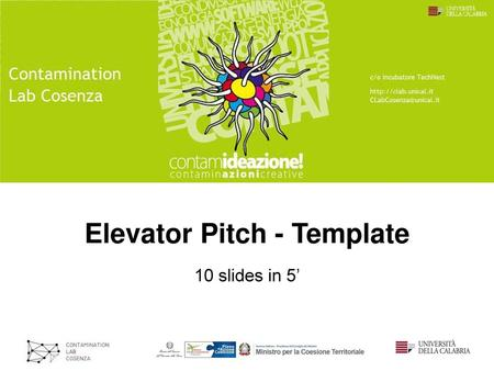 Elevator Pitch - Template