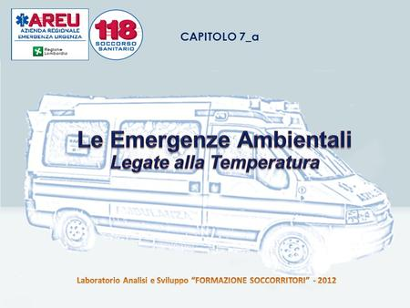 Le Emergenze Ambientali