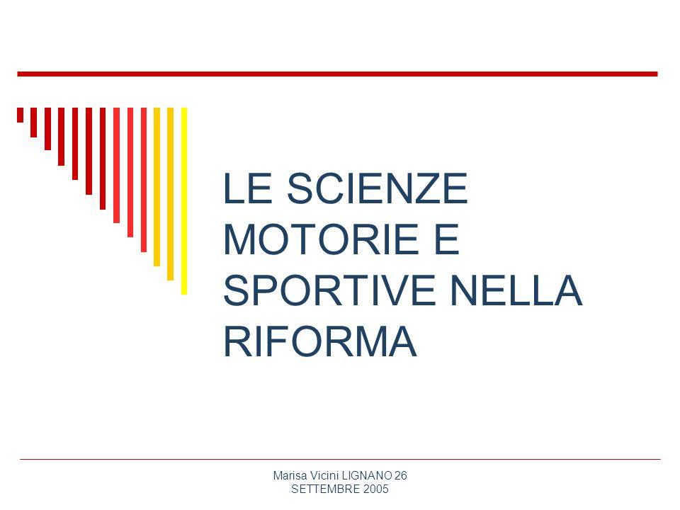 Le Scienze Motorie E Sportive Nella Riforma Ppt Scaricare