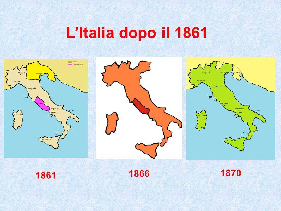 Cartina Italia Unita 1861.L Italia Dopo Il Ppt Video Online Scaricare