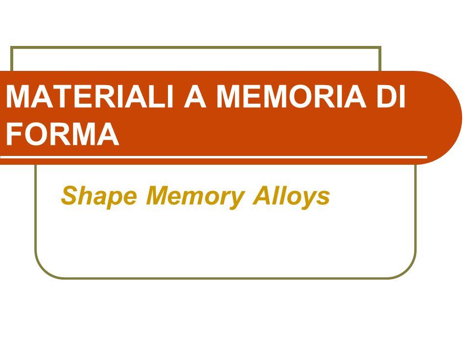 Materiali A Memoria Di Forma Ppt Scaricare