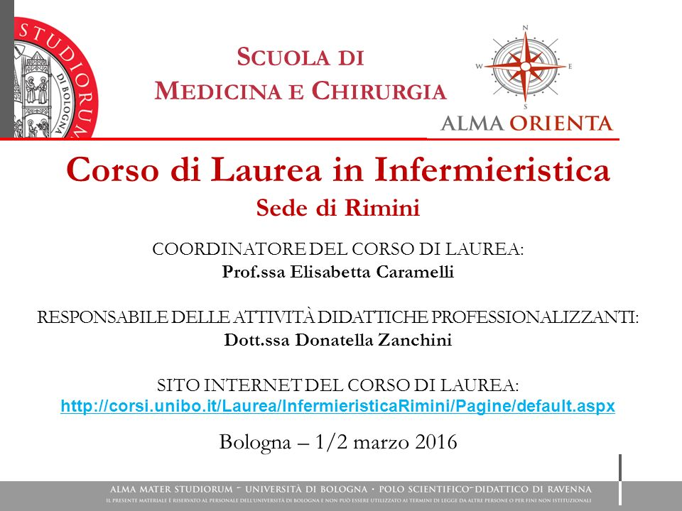 Corso Di Laurea In Infermieristica Ppt Scaricare