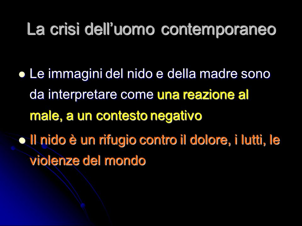 La crisi dell'uomo contemporaneo