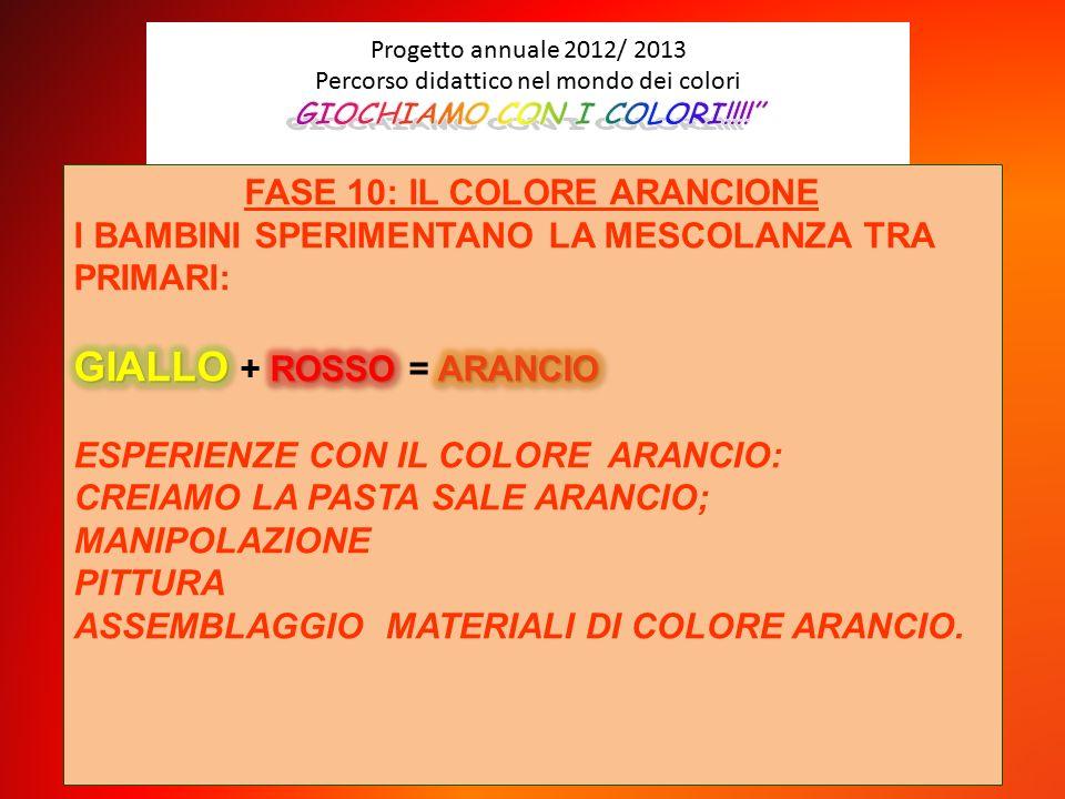 Progetto Annuale 2012 2013 Percorso Didattico Nel Mondo Dei Colori