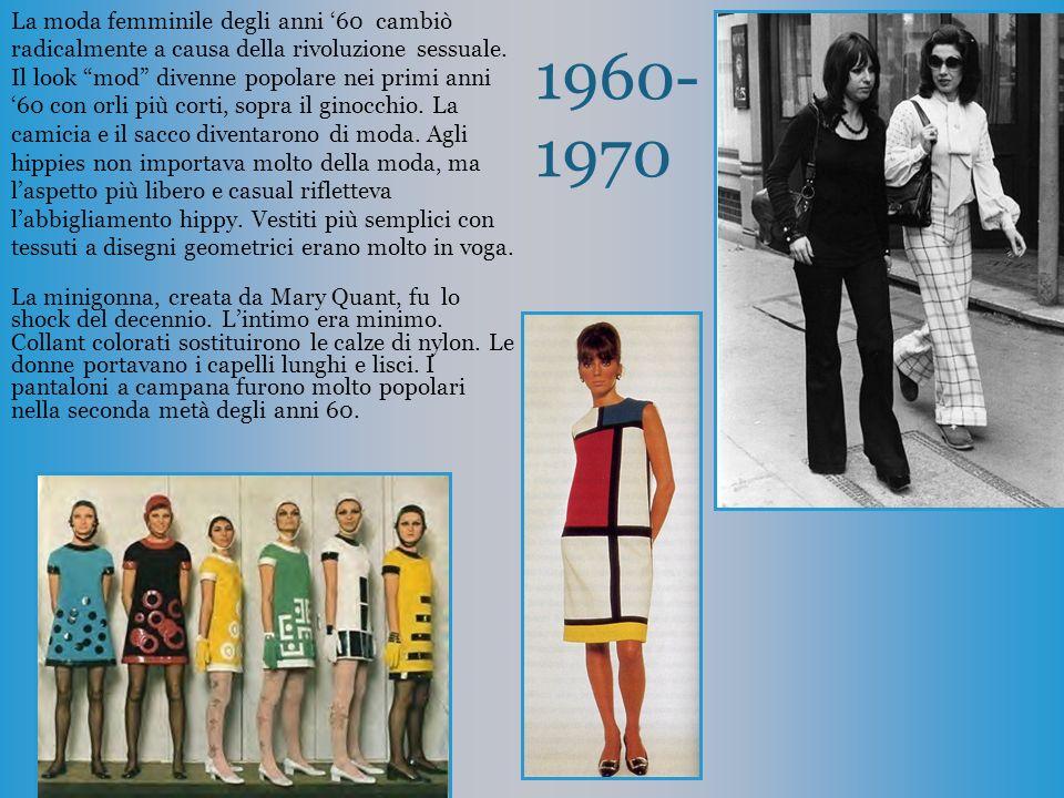 La moda femminile degli anni  u002760 cambiò radicalmente a causa della  rivoluzione sessuale. 6d6d39ce82cd
