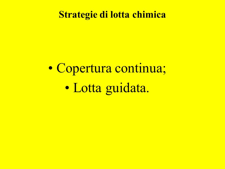 Strategie di lotta chimica