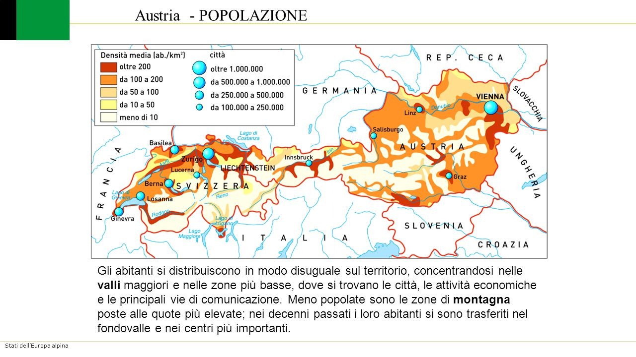 Cartina Del Austria.Austria Ppt Video Online Scaricare