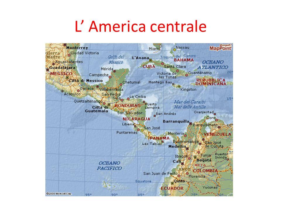 Cartina Fisica Dell America Centrale.Un Grande Continente L America Ppt Video Online Scaricare