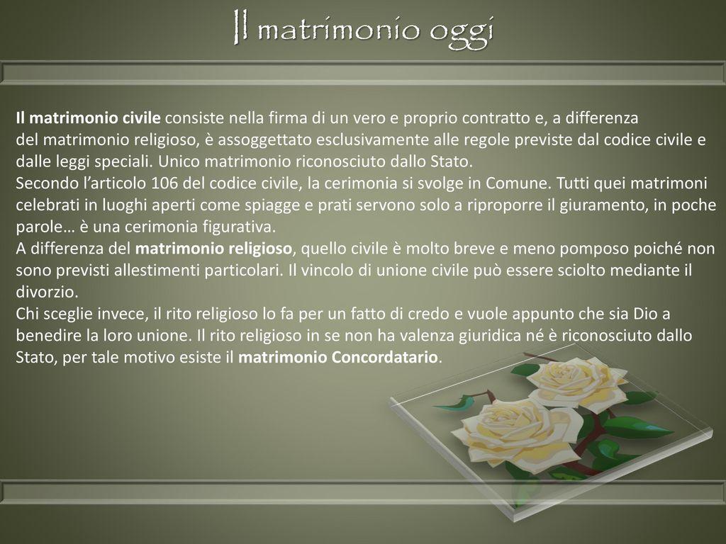 Matrimonio Unione Civile Differenza : Il matrimonio ppt scaricare