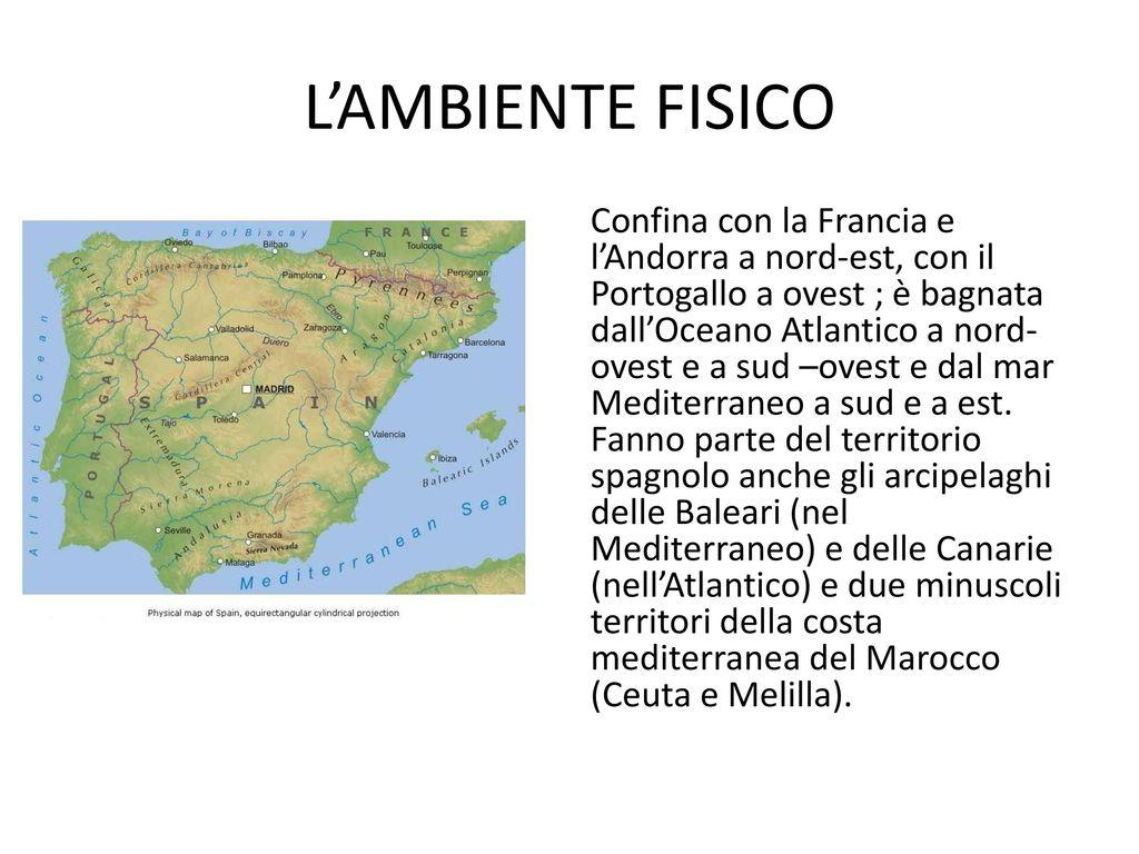 Cartina Rilievi Spagna.La Spagna Ppt Video Online Scaricare
