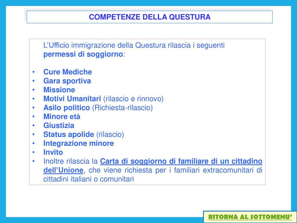 Awesome Carta Di Soggiorno Per Motivi Familiari Photos - Modern ...
