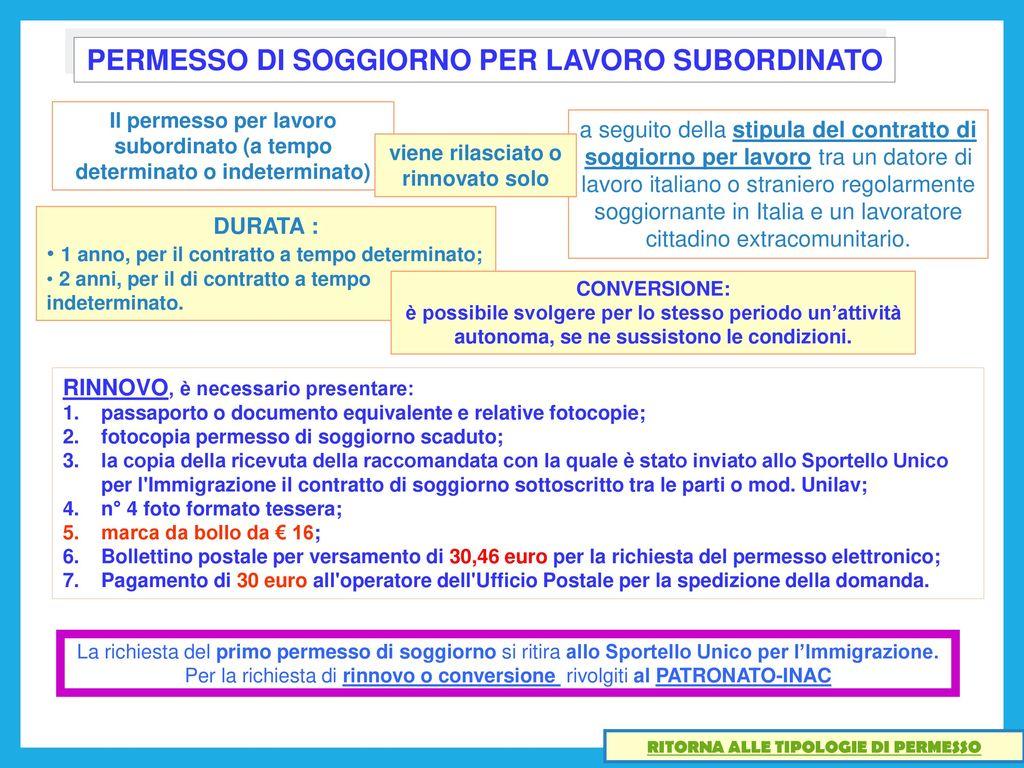 Stunning Contratto Di Soggiorno Per Lavoro Subordinato Pictures ...