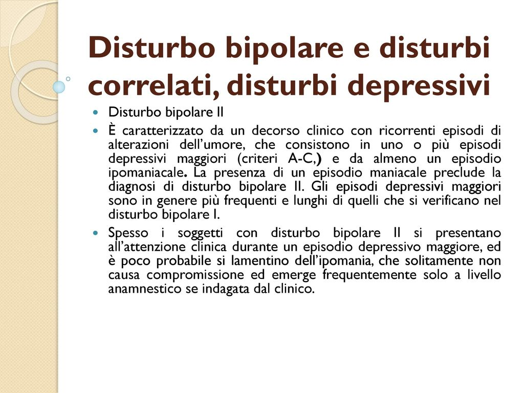 disturbo bipolare 1 e 2 differenza