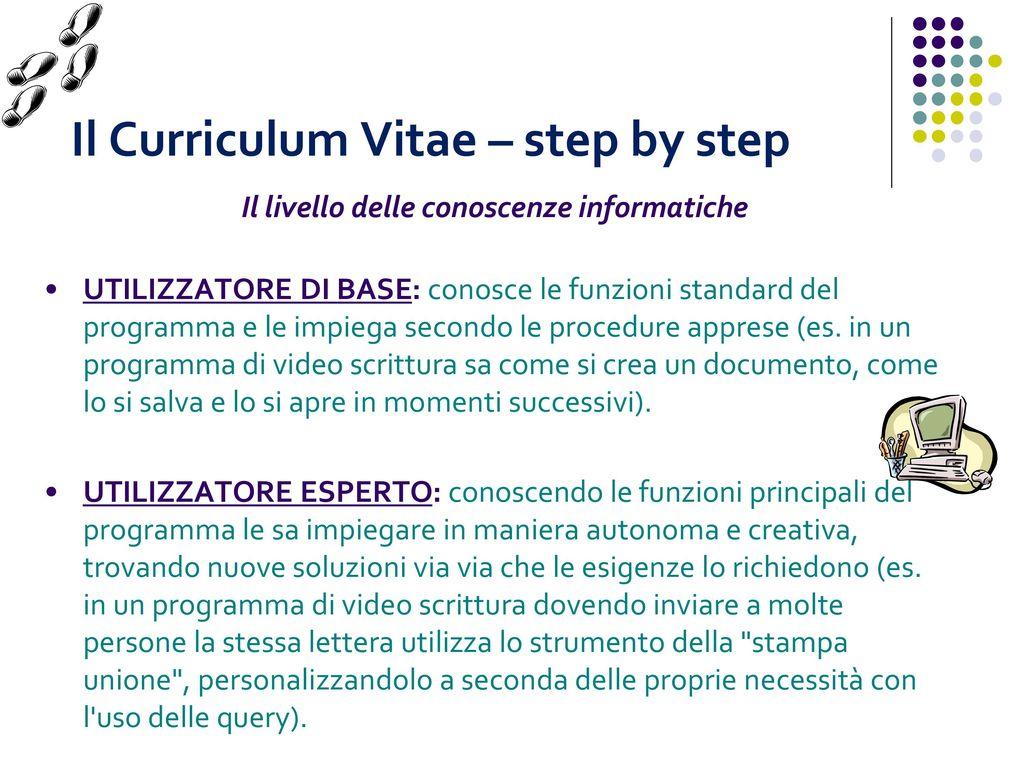 Il Curriculum Vitae Necessario Per Presentarsi Utile Per Capirsi